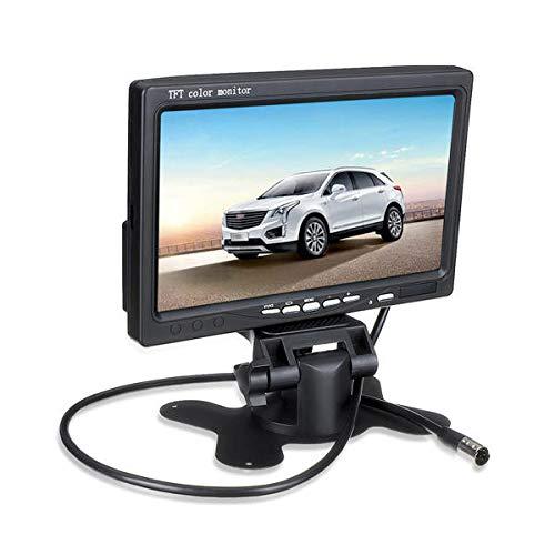 WZhen Monitor de coche de pantalla LCD Tft de 7 pulgadas para cámara de visión trasera de marcha atrás