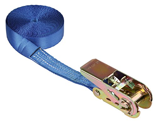 Kerbl 37110 Sangle d'arrimage à cliquet Bleu Capacité 800 kg 25 mm x 5 m