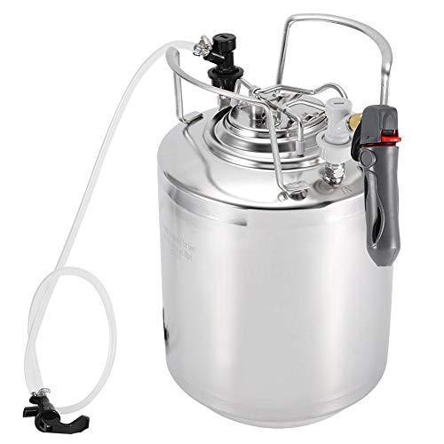 Ccylez Barril de Cerveza con Grifo, Kit dispensador de hervidor de Cerveza casero de Acero Inoxidable Almacenamiento de Cerveza con fácil Limpieza, Ideal para fermentar(10L)