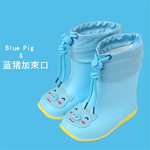 LUBINGT Rain Boots Children's Rain Boots Boys and Girls Cute and Lightweight Anti-Slip Rain Boots Waterproof Little Kids' Rain Boots Rubber Shoes (Color : Red, Shoe Size : Inner Length 20cm)