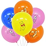 40Pcs Pooh Globo Látex - ZSWQ Pooh Globo Látex Fiesta, Usado para Niños Tema Pooh Suministros Fiesta Cumpleaños Decoración Globos Decoración Fiestas Pooh para cumpleaños Infantiles