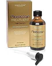 Simon & Tom Marokkaanse behandeling Haarserum, met hoogwaardige biologische arganolie, voedt, beschermt, elimineert kroes & voegt glans toe, vrij van sulfaten en parabenen, 100 ml.