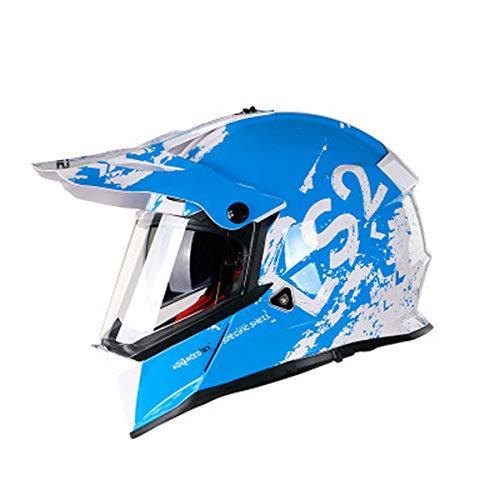 GENGJ Casco modular de motocicleta integral de ventilación avanzada Scooter Cascos modulares ligeros con sistema, C, XXL