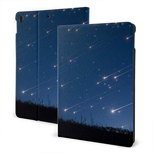 AlAlAl Fun iPad Cover 2019 iPad Air3/2017 iPad Pro 10.5 Inch Case/2019 iPad 7th 10.2 Inch Case Night Blue Sky Tree Of Meteor Galaxy Mountain iPad Book Cover Auto Wake/sleep