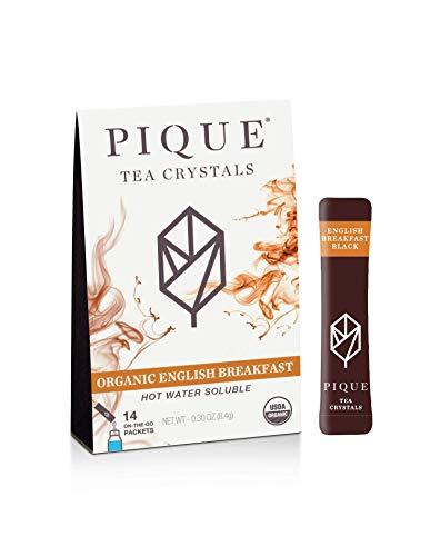 Pique Tea Organic Earl Grey Black Tea Crystals - Immune Support, Gut Health, Fasting - 14 Single Serve Sticks (Pack of 1)