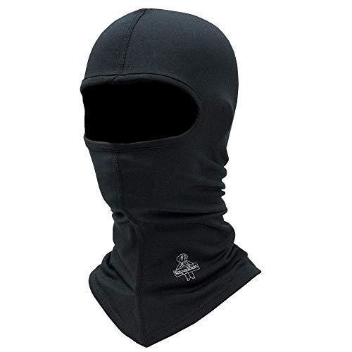 RefrigiWear Flex-Wear Lightweight Lined Long Neck Open Hole Balaclava Face Mask (Black, One Size Fits All)