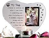 Special Dog vetro placca commemorativa tomba ornamento con poesia candela photo Holder for Remembrance