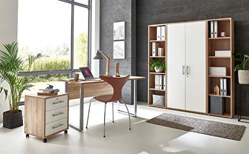 moebel-dich-auf.de Arbeitszimmer TABOR 3 in diversen Farbvarianten (Sonoma Eiche/weiß matt)