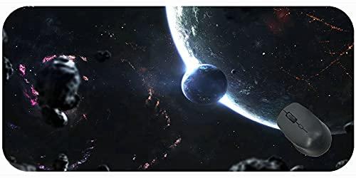 XXL Gaming Podkładka pod mysz, planety Meteory Glow wygodna mata myszy do gier i biura