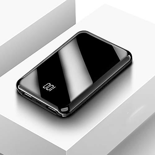 RAPLANC Cargador portátil, una de Las baterías externas más pequeñas y livianas de 10000Mah, ultracompacto, tecnología Power Bank para iPhone, Samsung Galaxy y más,Negro