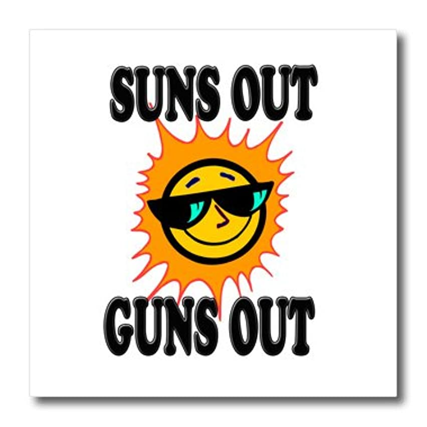 3dRose ht_157381_1 Suns Out Guns Out. Gym. Workout-Iron on Heat Transfer Paper for White Material, 8 by 8-Inch
