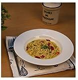 Famacart Tableware White Fine Porcelain Deep Pasta Plate/Soup Plate/Magi Plate/Gravy (22 cm, 1-Plates)
