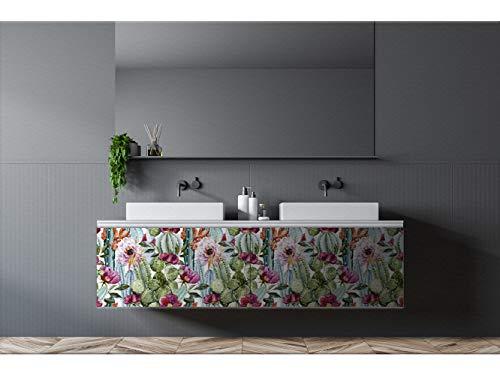 Oedim Vinilo Decorativo para Muebles Cactus | Vinilo Ecológico | 200 x 100cm | Autoadhesivos para Decorar o Renovar Muebles, Suelos y Paredes