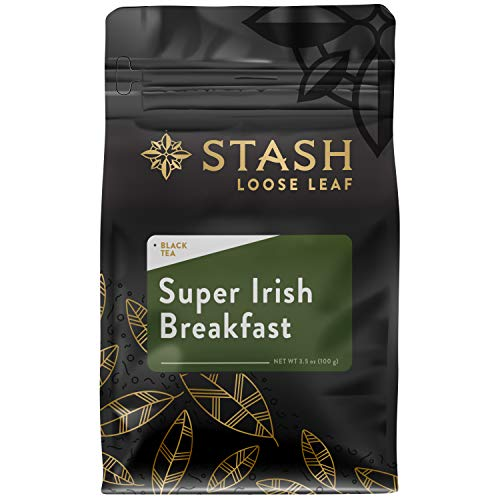 Stash Tea Super Irish Breakfast Loose Leaf Tea 3.5 Ounce Pouch Loose Leaf Premium Herbal Tea for Use with Tea Infusers Tea Strainers or Teapots, Drink Hot or Iced, Sweetened or Plain
