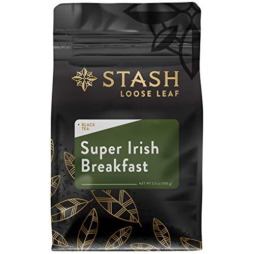 Stash Tea Super Irish Breakfast Loose Leaf Tea 3.5 Ounce Pouch Loose Leaf Premium Herbal Tea for Use with Tea Infusers Tea Strainers or Teapots, Drink Hot or Iced, Sweetened or Plain