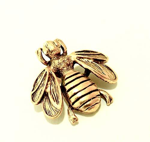 Bumble Bee Decorative Push Pins, Qty 15, Handmade Metal Nature Thumb Tack, Gold Finish