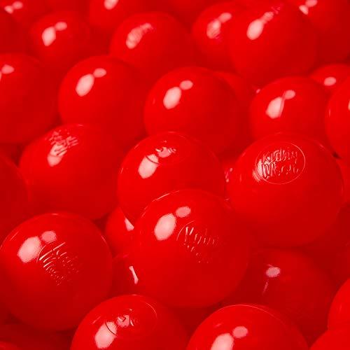KiddyMoon 100 ∅ 6Cm Kinder Bälle Für Bällebad Spielbälle Baby Plastikbälle Made In EU, Rot