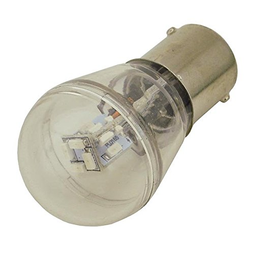 LEDwholesalers BA15s Single Contact Bayonet Base S8 0.7W LED Bulb with 16xSMD3014 12V AC/DC (6-Pack), Warm White, 1429WWx6