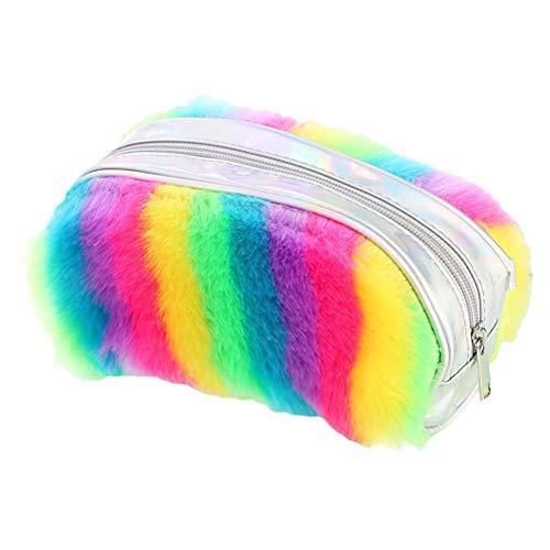 Bolsas de Aseo Peluche Travel Cosmetic Bags Capacidad de Gran Capacidad Caja de lápiz Suministros Escolares Efectos de Escritorio Bolsas de Mano Bolsa de Maquillaje de Mujeres Neceseres de Viaje