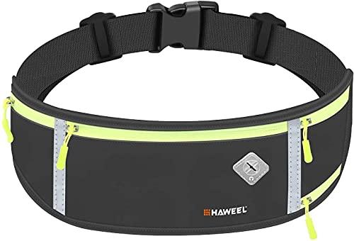 VOLOHAS Flycoo2 - Bolsa de la compra para teléfono móvil para hombres y mujeres, cinturón de carreras impermeable, reflectante para bicicleta (negro)