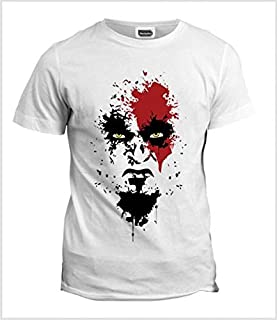 white round neck tshirt for men - God of war
