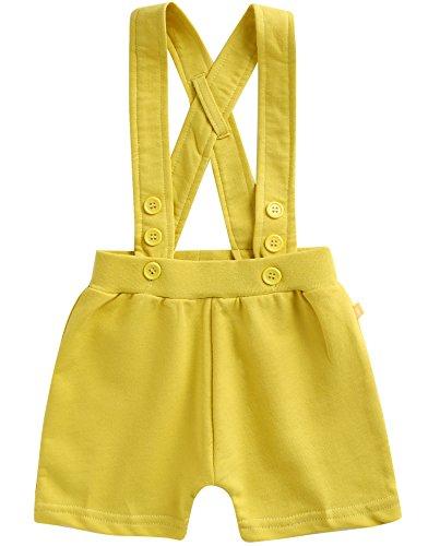 [Livraison gratuite] Vaenait pour bébé 0–24 mois 100% coton porte-jarretelles Short Pantalon Pastel - Jaune - Large