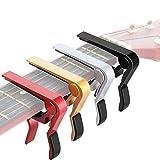 Best Guitar Capos - 4 Pieces Guitar Capo Aluminum Metal Universal, Acoustic Review