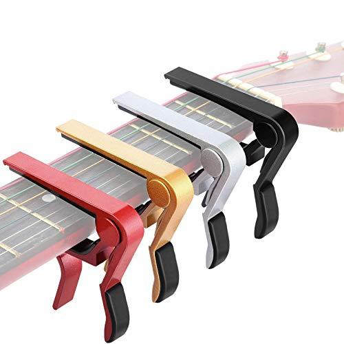 4 Piezas Capo de Guitarra Aluminio Metal Universal, Guitarras Eléctricas Acústicas y...