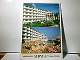 Apartahotel Surycan. Maspalomas / Gran Canaria. Zweibild AK farbig, gel. 1990. Gebaädeansicht, Parkanlage, Pool mit Gästen