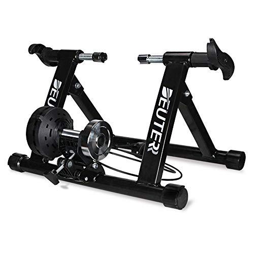 Lixada Soporte Magnético Plegable para Entrenador de Bicicleta/Estante de Ciclismo/Entrenamiento de Ejercicio para Bicicleta de Interior para Neumáticos de 20-22/26-28 Pulgadas