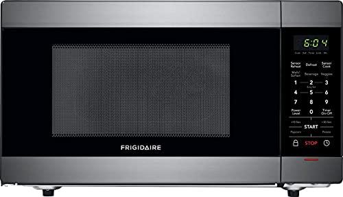 Frigidaire 1.4 Cu. Ft. Countertop Microwave in Black Stainless Steel (Renewed)