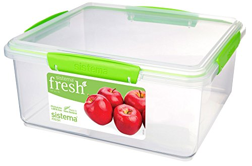Sistema Vorratsbox 5L, Plastik, Transparent/grün, 26.5 x 23.5 x 12 cm