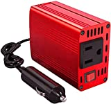 150W Car Power Inverter DC 12V to 110V AC Converter with 3.1A Dual USB Charger