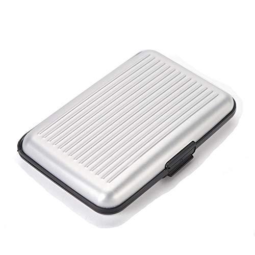RFID Porta / Portafoglio Sottile in Alluminio con Porta Carte di Credito. (Argento)