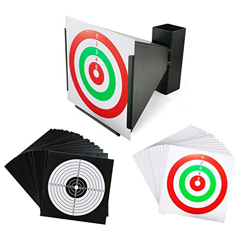 Atflbox BB Gun Trap with 50pcs Paper Target Bullet Catcher Shooting Target for Airsoft,Pellet.Rifle