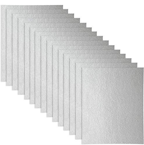 Guide d'ondes 15 pcs Coque, Universal plaque Mica pour four à micro-ondes, découpées, 150 * 120 mm
