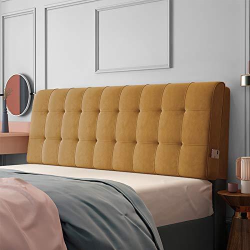 Almohadas de Lectura y Reposo en Cama, Soporte de posicionamiento del Respaldo, Cierre la Brecha Entre su colchón y la cabecera (Color : Khaki, Size : 200cm x 60cm (6.5ft x 1.9ft))