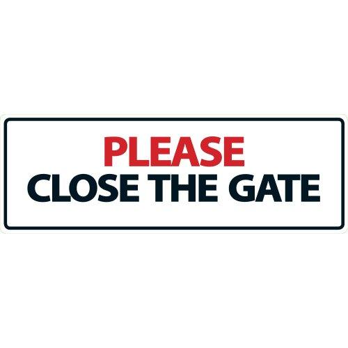 Magnet & Steel Panneau paysager Please Close The Gate