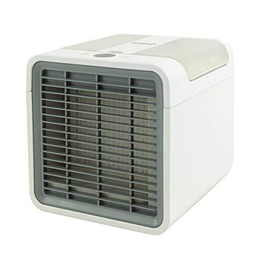 MaxxHome Mini enfriador de aire portátil AC16, aire acondicionado 3 en 1, mini enfriador de aire, ventilador USB, portátil, 3 niveles de refrigeración para casa, oficina, coche, hotel, garaje, camping