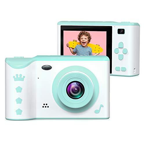 Kinder-Kamera, ieGeek Kinder-Digitalkamera, 7,1 cm Front- und Rückseite, Dual-Kamera, 8,0 MP, 1080P HD-Kamera für Kinder, USB wiederaufladbar mit 32 GB SD-Karten-Speicher für Kinder von 3–12 Jahren