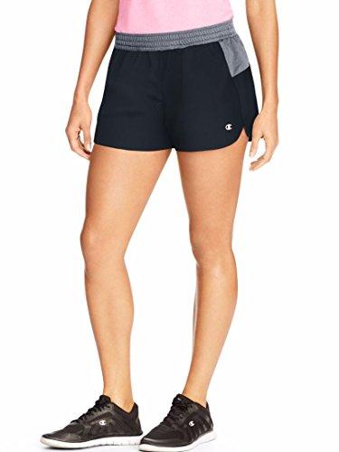 Champion Women's Sport Short 5, Black/Medium Grey, Small