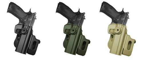 Polymer Retention Roto Holster CZ 75 SP-01 Shadow + Detachable Mag Pouch OD Green by IMI RSR Defence