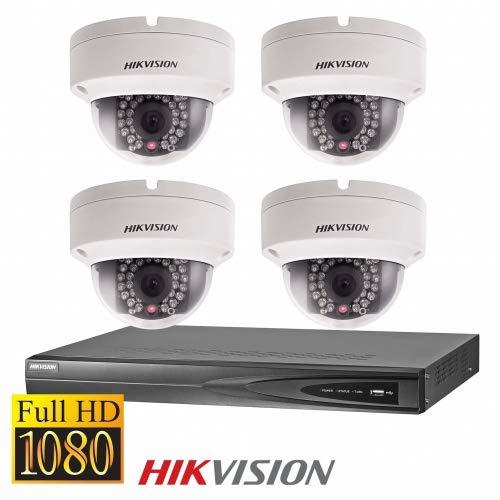 Full HD IP Dome Überwachungskamera Set mit 4MP Kameras