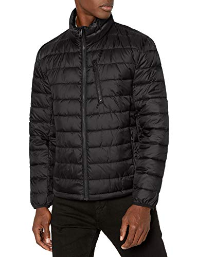 Marc New York by Andrew Marc Pearson Puffer - chamarra para hombre, Negro, Large