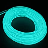USB Neon Light Tube 2M/6FT El Wire Led Flexible Light Strip for Cars DC 5V Neon Atmosphere Glowing Strobing Electroluminescent Light Glowing Neon Lights (Ice Blue)