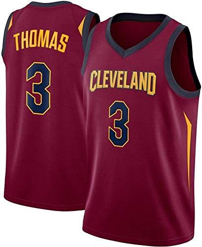 QWE Basket Maschile Jersey NBA Cavaliers 3# Isaiah Thomas Jersey NBA Unisex Senza Maniche Top Outdoor Sports Competition Vestiti della Maglia DOISLL (Color : -)