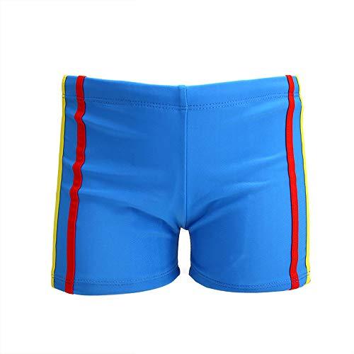 Jongens zwemshort Plain pull strips Kinderbadmode zwembroek Jongens hot springs boxer baby zwembroek Lichtgewicht strand shorts Verstelbare taille