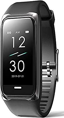 Innepaxe Fitness Tracker with Blood Pressure and Heart Rate Monitor - Waterproof Activity Tracker Pedometer with Step Counter Calorie Counter and Sleep Tracking - Fitness Tracker for Men Women – Black