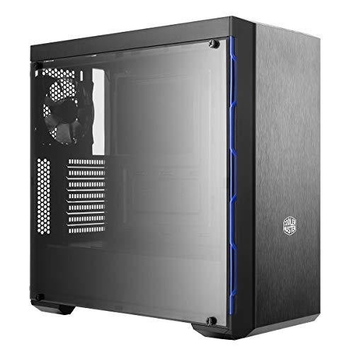 Gabinete Cooler Master MasterBox MB600L Azul, ATX, Lateral em Acrílico Transparente, PSU Cover, Sem Baia ODD