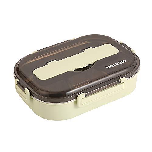 household items Bandeja de Comida rápida aislada de Acero Inoxidable 304 con Plato de Sopa Lonchera portátil Lonchera portátil Lonchera Horno de microondas Recipiente para Alimentos a Prueba de Fugas